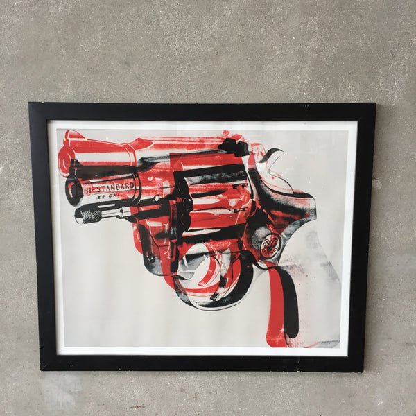 Large Black & Red Sentinel Pistol Print