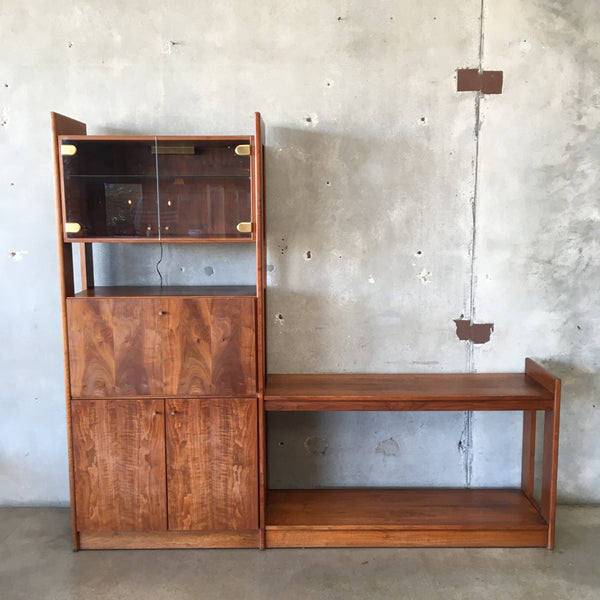 Mid Century Wall Unit With Desk or Bar