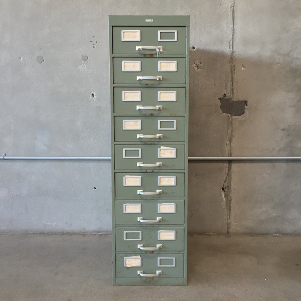 Large Green File Cabinet