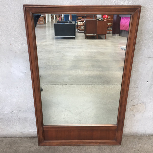 Mid Century Wood Mirror