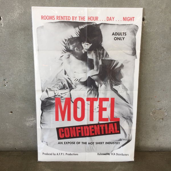 1960's X Motel Confidential Poster