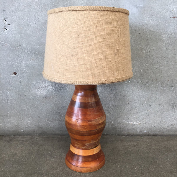 Vintage Wood Hand Turned Lamp