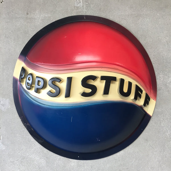 Large Plastic Vintage Pepsi Sign
