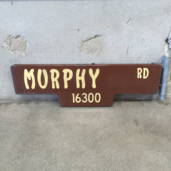 "Vintage ""Murphy Rd"" City of La Mirada Street Sign"