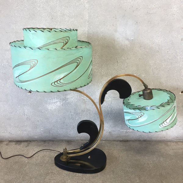 1950's Majestic Table Lamp - Original Shades