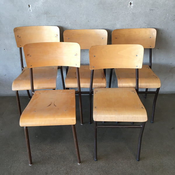 Set of Five Vintage Chairs