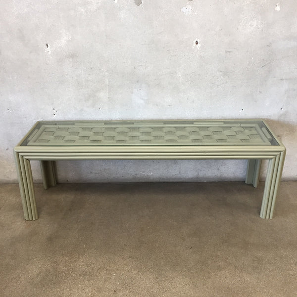 Green Console Table with Glass