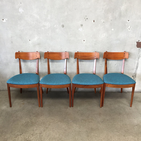 Set of Four Mid Century Modern Drexel Dining Chairs