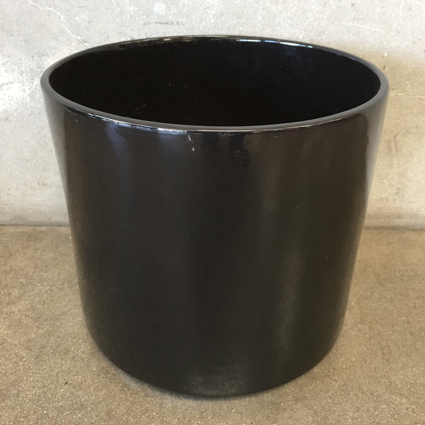 Large Mid Century Black Pot
