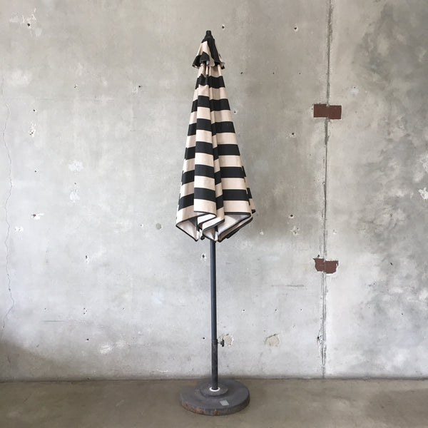 Striped Umbrella and Stand