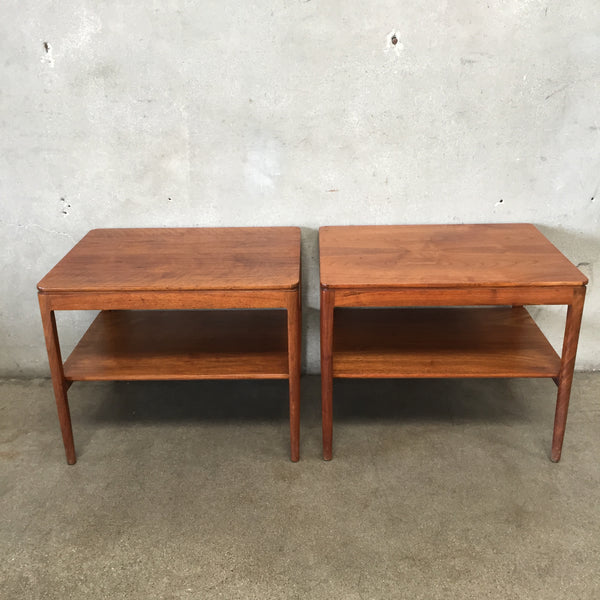 Pair of Mid Century Modern Drexel Walnut End Tables