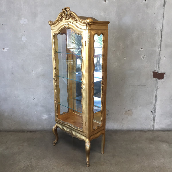 Antique Gold Gilt Display Case