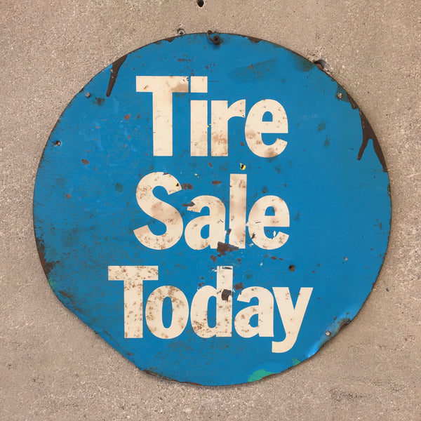 "Vintage Metal Shell Gas Station ""tire sale"" Sign"