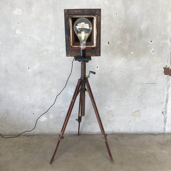 Antique Agfa Camera Tripod Lamp