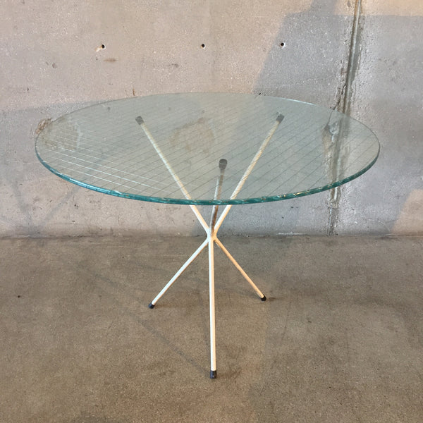 1950's Wire & Glass Top Table