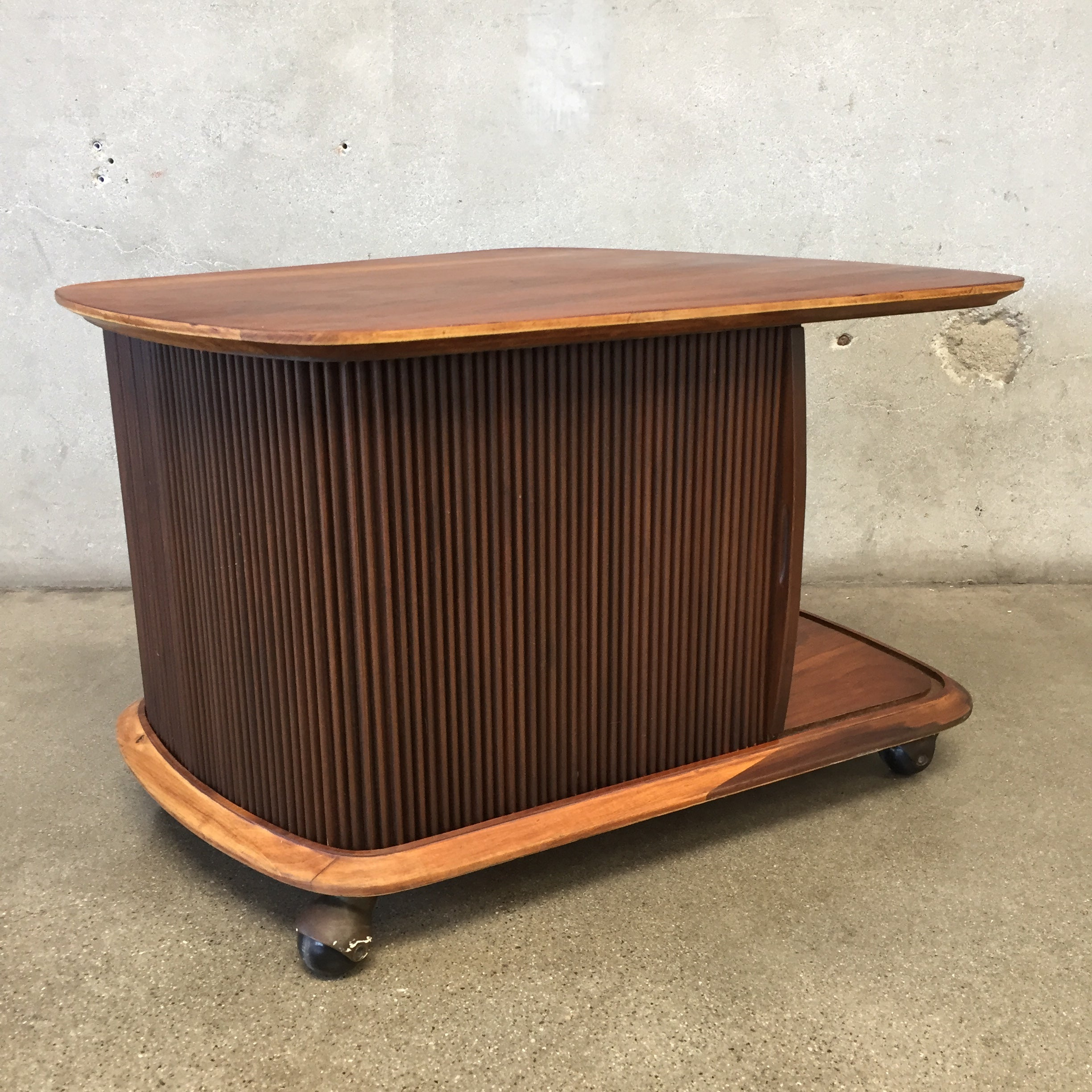 ... Mid Century Lane Rolling End Table ...