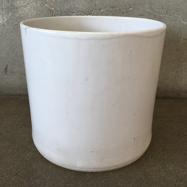 White Mid Century Flower Pot