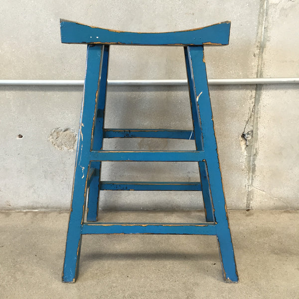 Blue Asian Style Stool