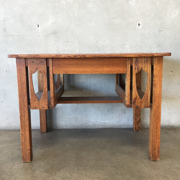 Vintage Wood Craftsman Desk