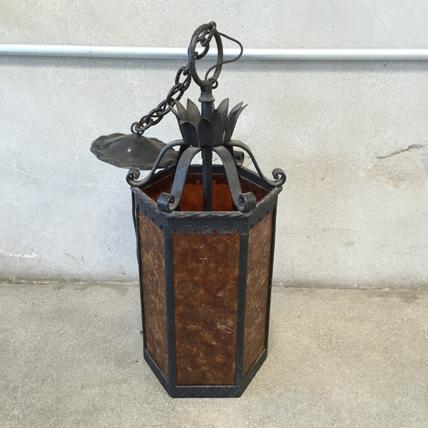Spanish Revival Light Fixture with Mica