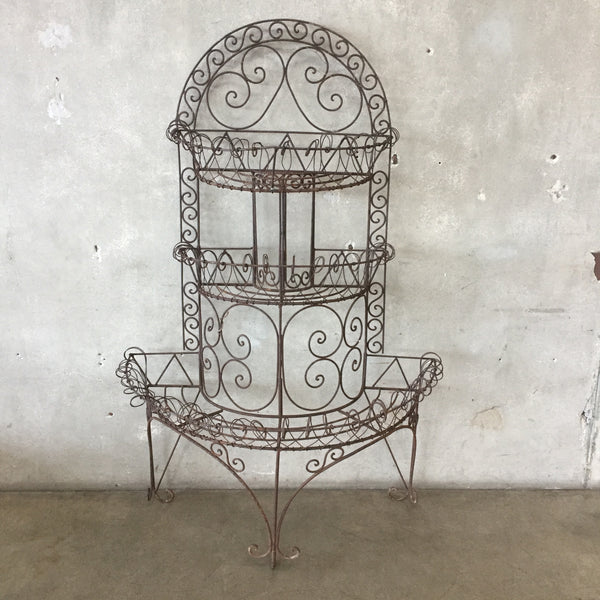 Decorative Iron Plant Stand