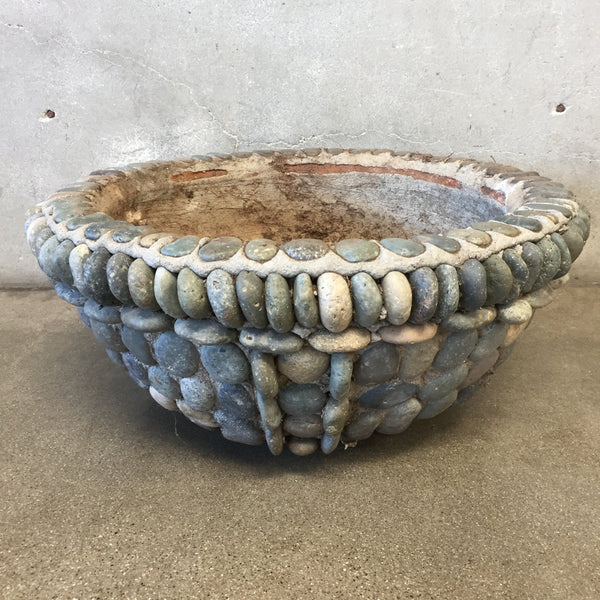 Vintage Concrete Rock Planter
