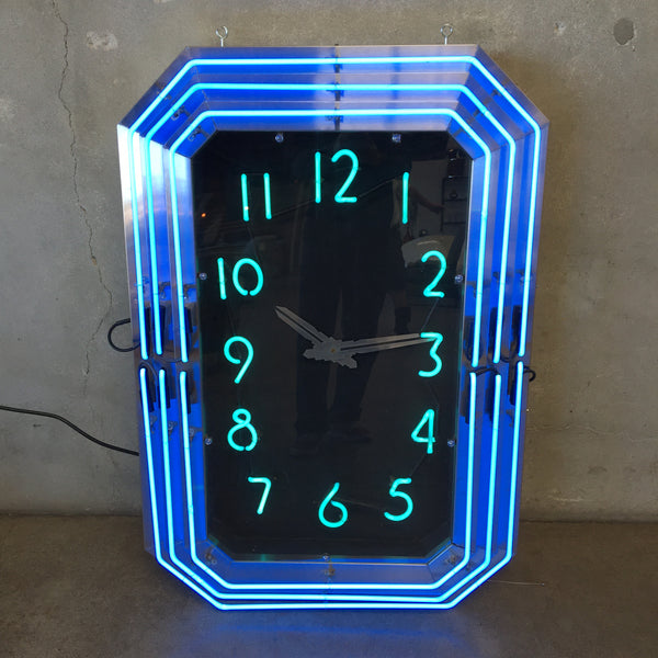 Neon Art Deco Clock