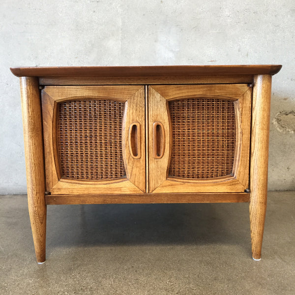 Mid Century Lane End Table with Doors