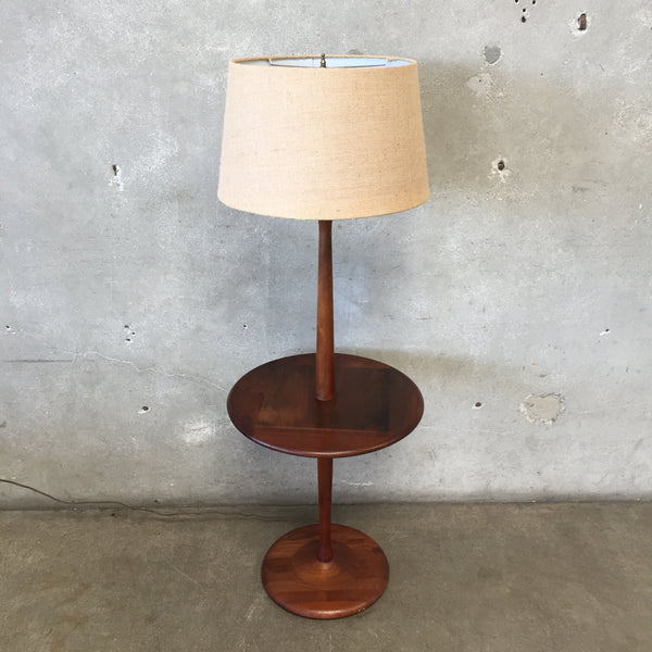 Mid Century Walnut Floor Lamp by Laurel