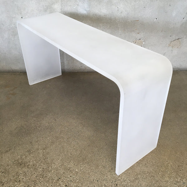 Frosted Lucite Console Table