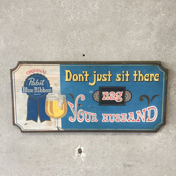 1960's Pabst Blue Ribbon Sign