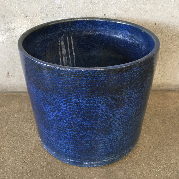 Mid Century Modern Blue Gainey Pot