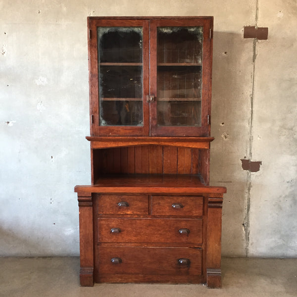 Antique Built In Craftsman Hutch