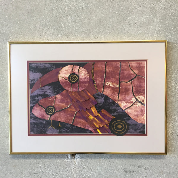 Vintage Mid Century Modern Abstract Art Work