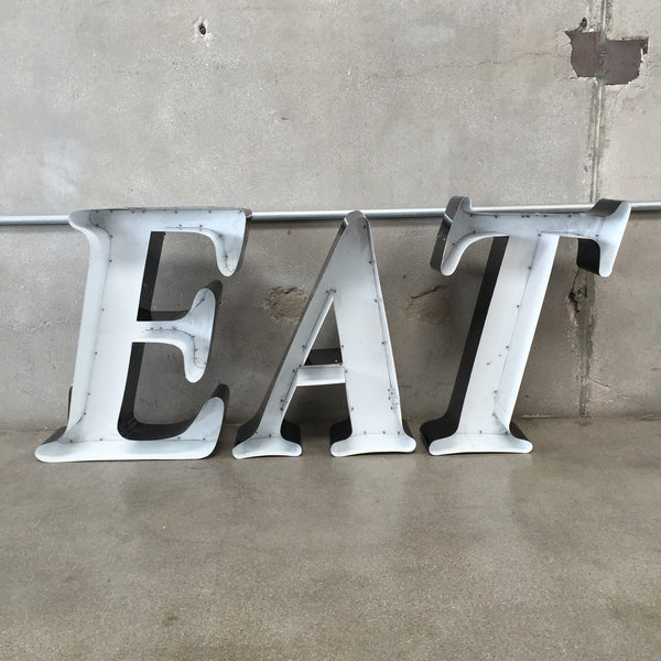 """EAT"" Letters / Metal Sign"
