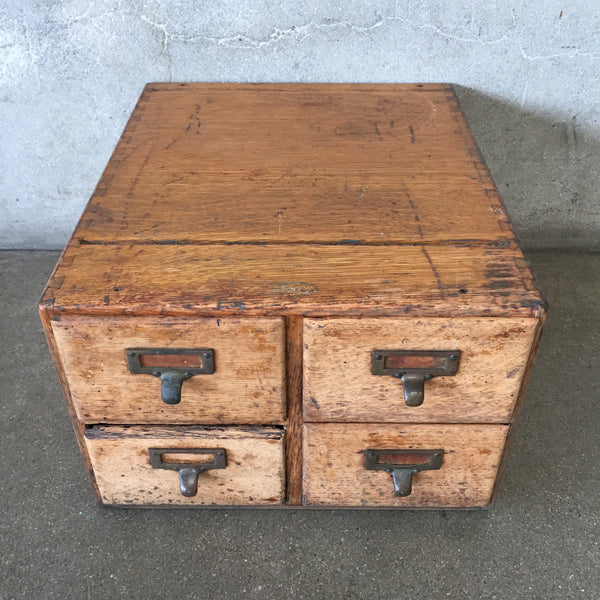 1930's Antique Library Card Catalog Cabinet