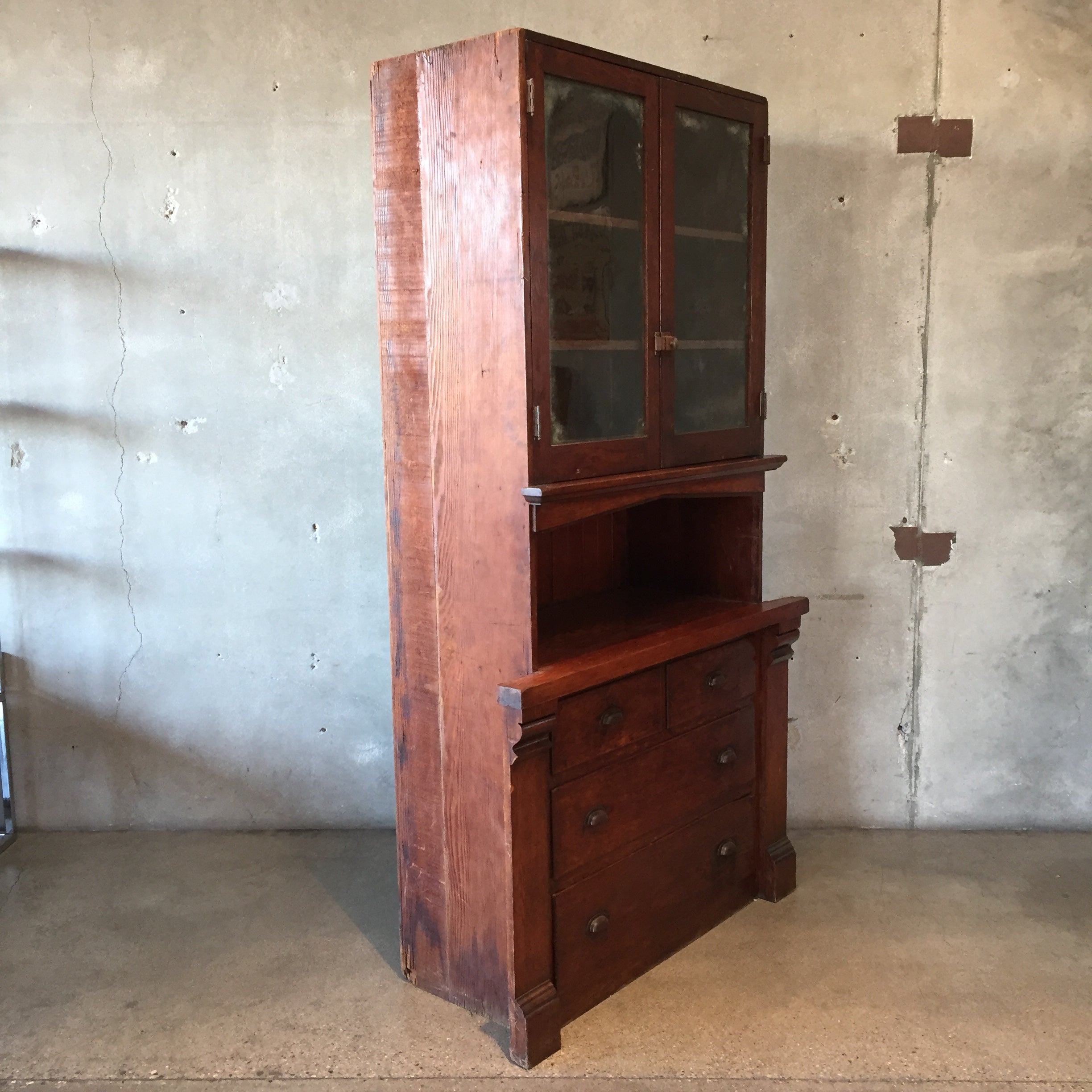 hunters china xiii louis twist lebreton antique barley french hutch cabinet