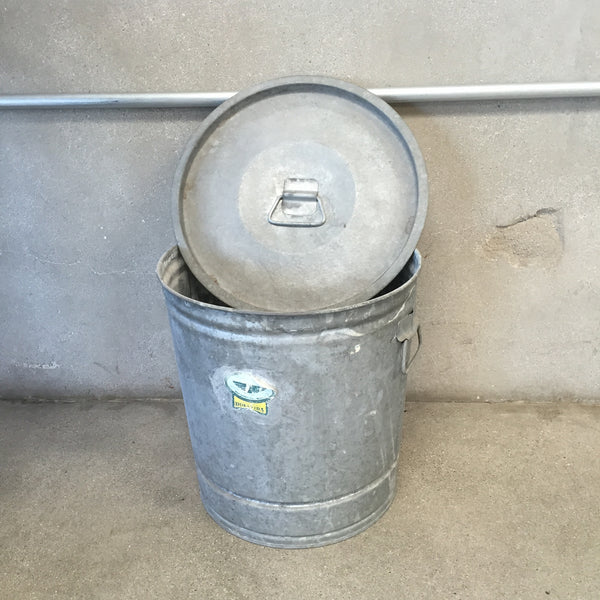 Galvanized Tin Pale with Lid