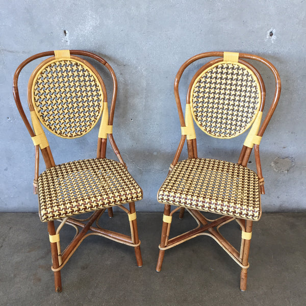 Pair of Authentic Wood & Bamboo French Chairs