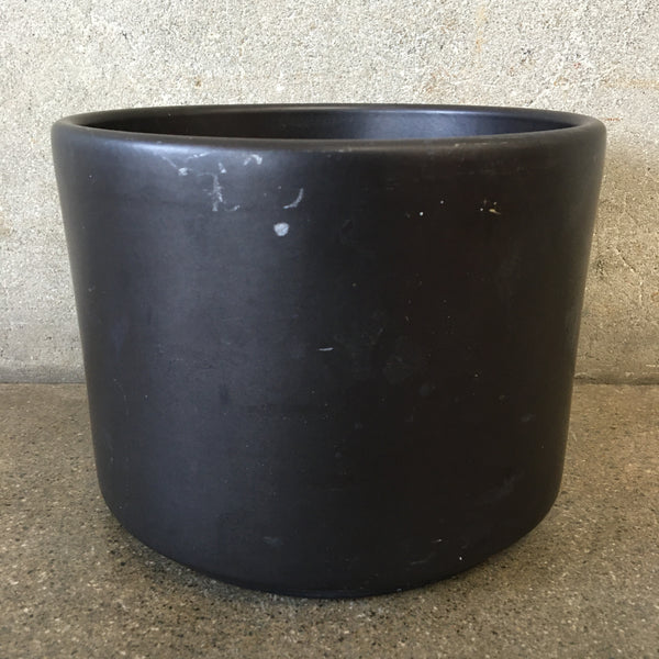 Mid Century Modern Black Gainey Pot