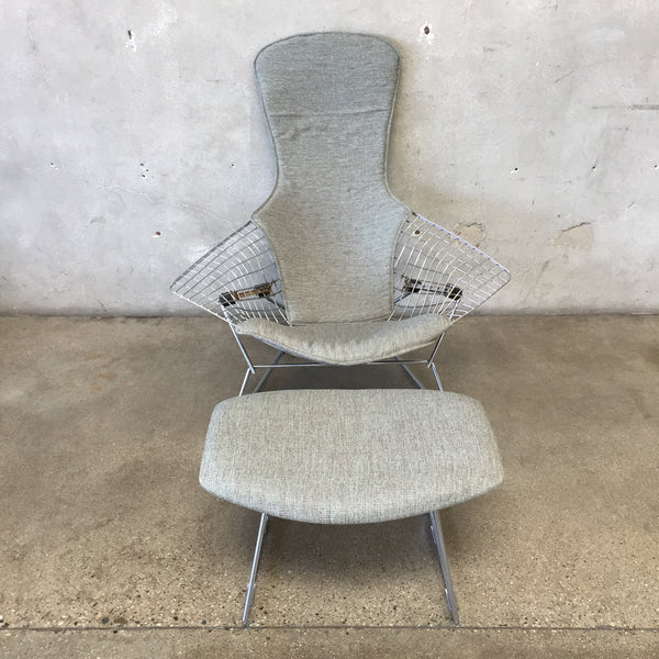 Bertoia Bird Chair with Ottoman