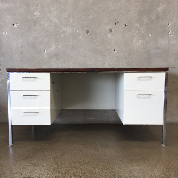 Mid Century Steel Case Desk