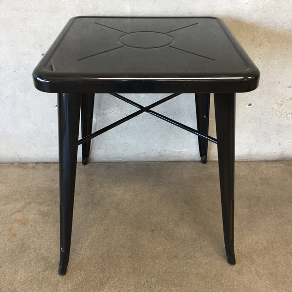 Heavy Black Metal French Cafe Table