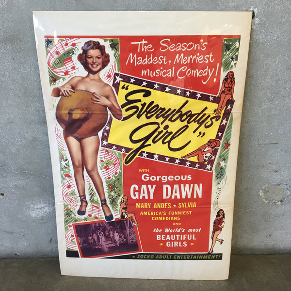 "Vintage ""Everybody's Girl"" Poster"