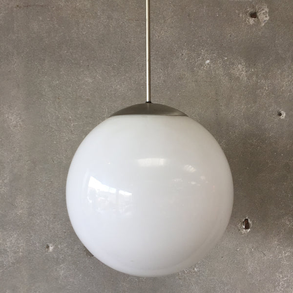 Mid Century Glass Globe Hanging Light