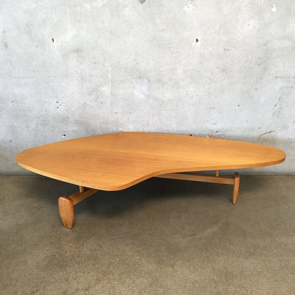 Mid Century John Keal from Brown Saltman Outrigger Coffee Table