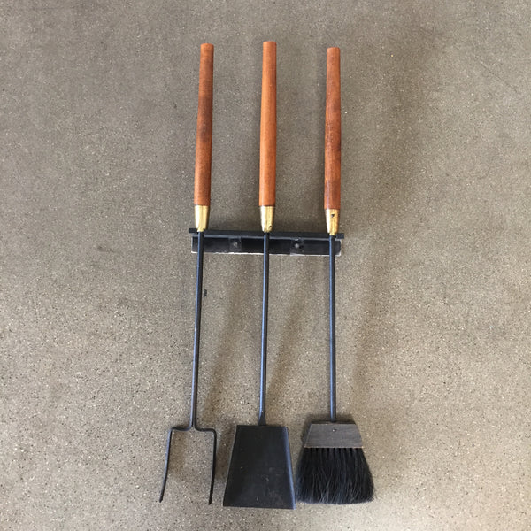 Vintage Wall Hanging Fire Tools