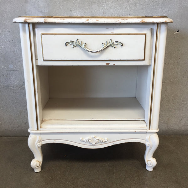 White Shabby Nightstand