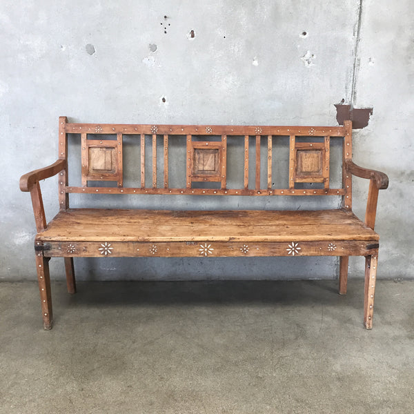 Vintage Inlay Bench