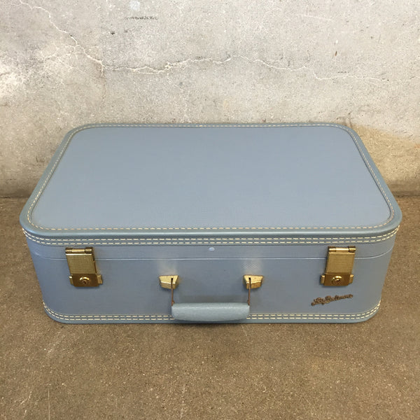 Lady Baltimore Vintage Powder Blue Luggage with Keys